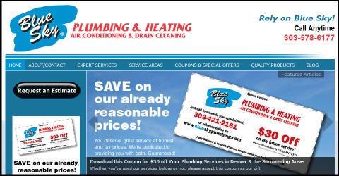 web design for plumber